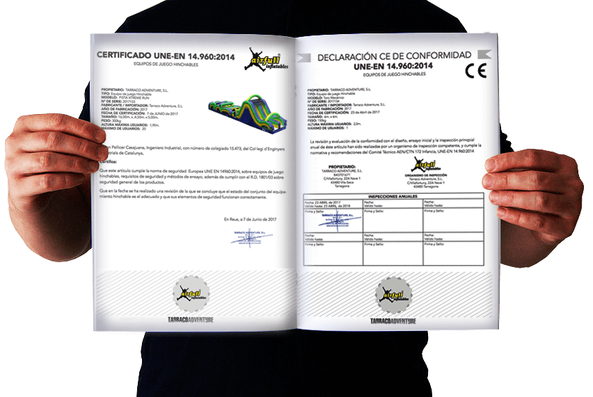 Dossier técnico homologado UNE-EN Airfull Inflatable