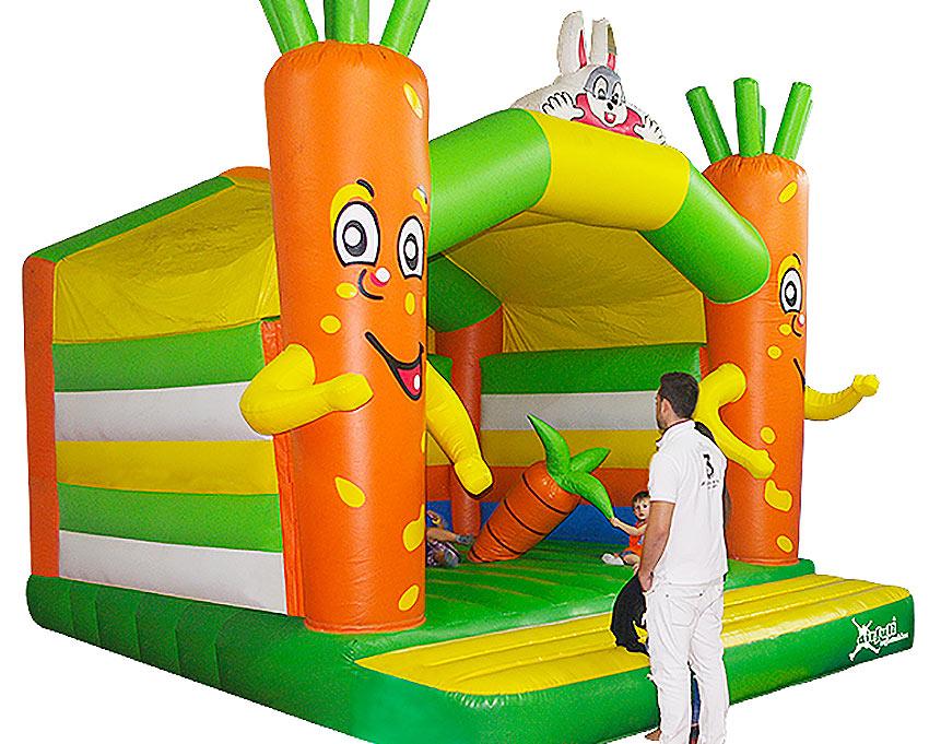 castillo hinchable zanahoria