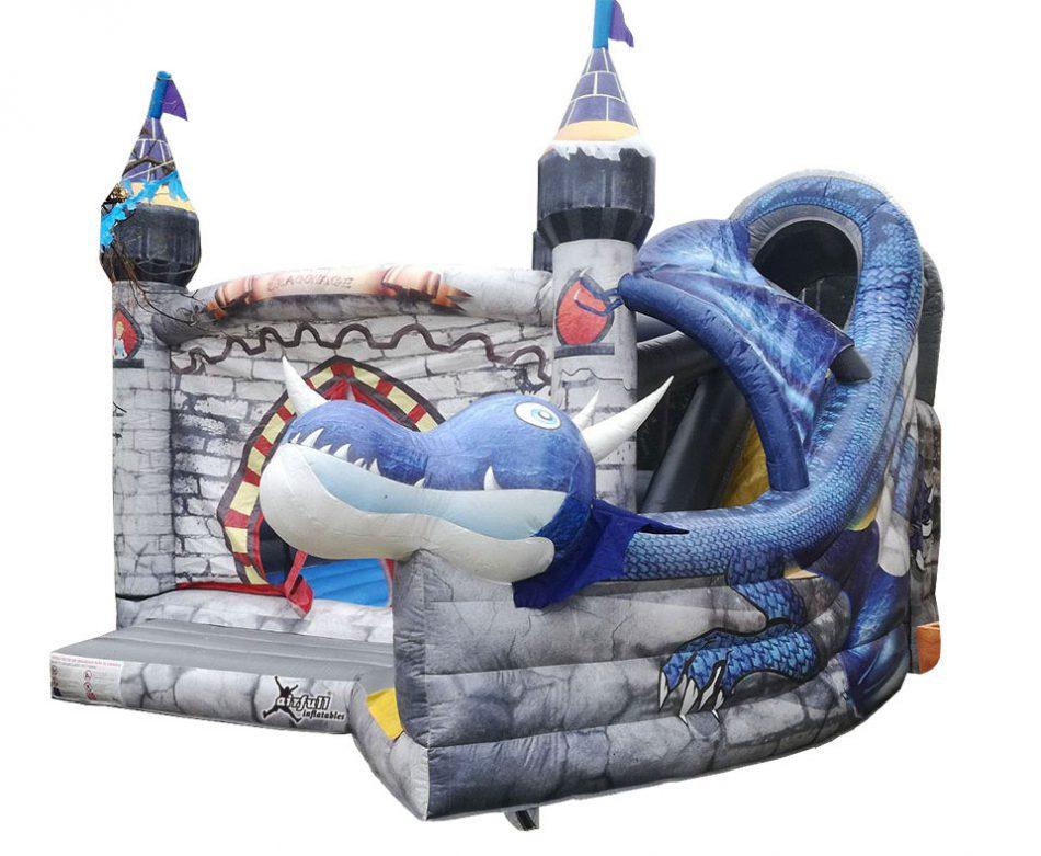 Castillo hinchable dragón