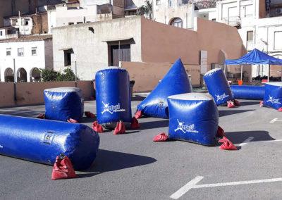 Obstáculos de competición para paintball