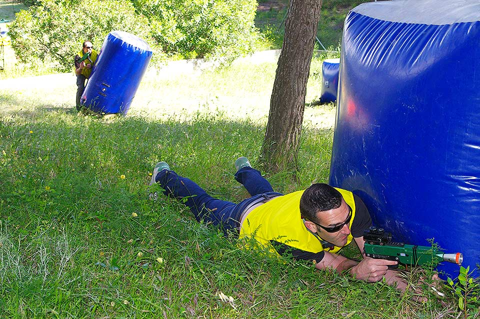 obstáculos paintball