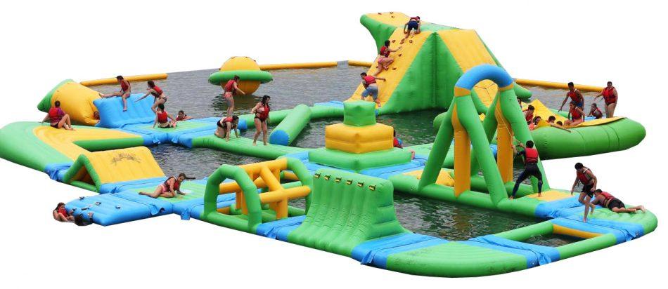 parque acuático hinchable modular