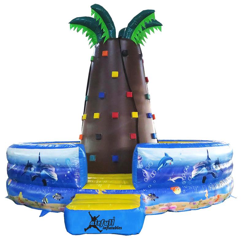 rocódromo hinchable palmeras