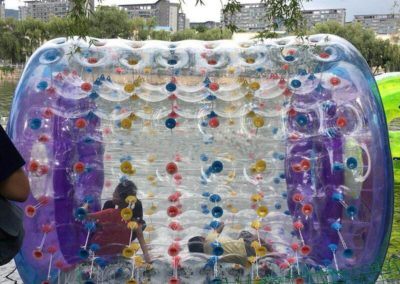 Rodillo acuático inflable