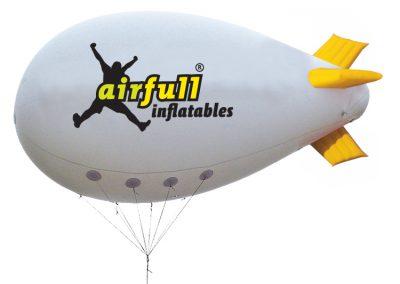 zeppelin publicitario de helio