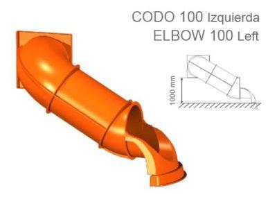 Tobogán tubo serie Codo
