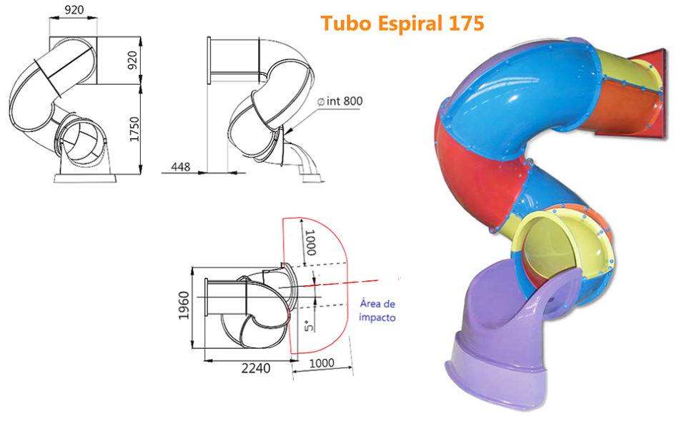 Tobogán Tubo Espiral