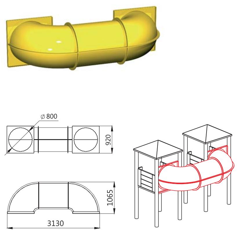 Túnel para torres de parques infantiles