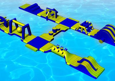 Parque acuático 11 módulos
