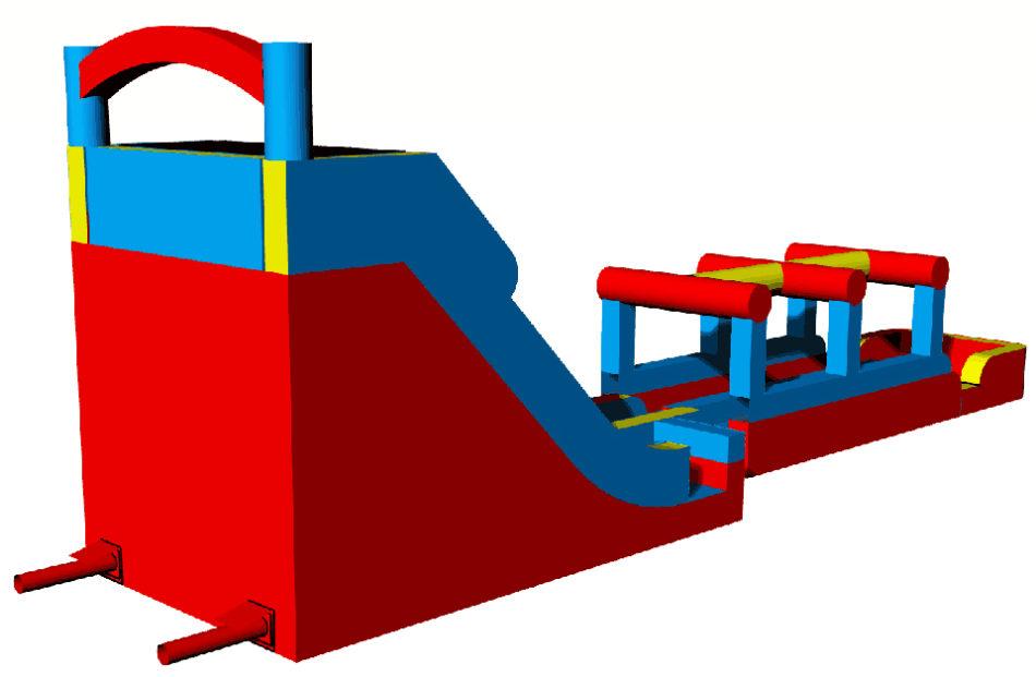 Super tobogán modular rojo