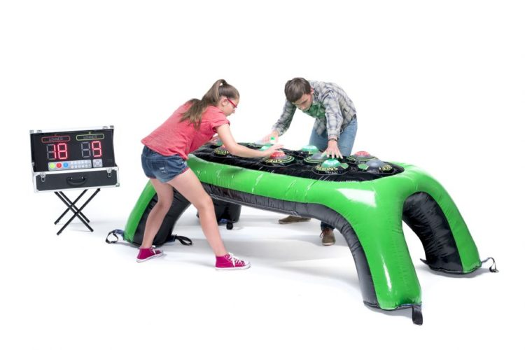mesa hinchable interactiva