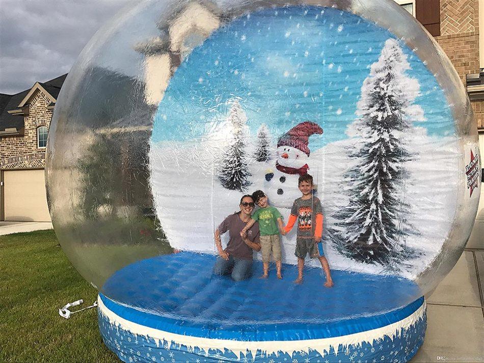 Burbuja hinchable de navidad