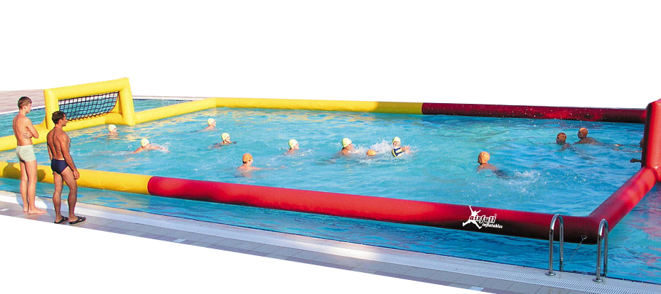 Campo de waterpolo hinchable