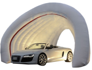 Carpa exposicitora de coches